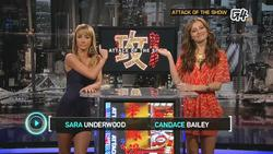 Candace Bailey & Sarah Underwood-- Attack Of The Show!,  January 12, 2012 - 720p  mp4  caps & Legs