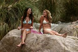 Amber Heard & Odette Yustman in Bikini @ �And Soon the Darkness� Set